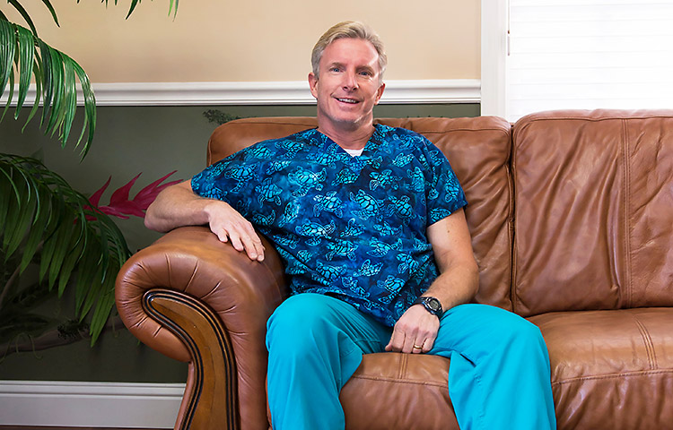 Dr. Mark Goch makes sure his office has a friendly, family atmosphere.